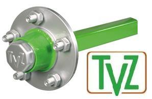 TVZ landbouwasstomp (ongeremd) met het logo van TVZ