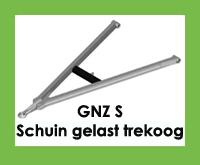 GNZ S - Triangel/trekdriekhoek/trekdissel met schuin gelast trekoog