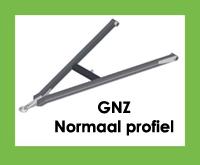 GNZ - Triangel/trekdissel/trekdriekhoek met normaal profiel