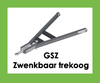 GSZ - Triangel/trekdissel/trekdriehoek met zwenkbaar trekoog