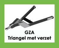 GZA - Triangel/trekdriehoek/trekdissel met verzet