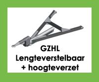 GZHL - Triangel/trekdissel/trekdriehoek lengteverstelbaar met hoogteverzet