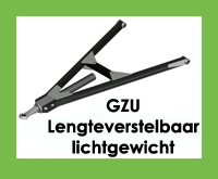 GZU - Triangel/trekdriehoek/trekdissel - Lengteverstelbaar - Lichtgewicht