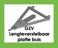 GZV - Triangel/trekdissel/trekdriehoek - Lengteverstelbaar met platte buis