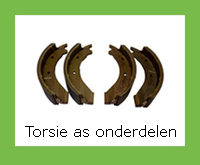 Torsie as onderdelen zoals: Remkabels, doorvoerkabels, remsets, lagers, vetkeerringen, schokbrekers en naafdoppen van BPW
