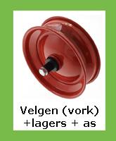 Velgen vorkwiel met lagers + asje voor langzaamverkeer. Bestel nu online in onze webshop!