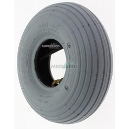 Buitenband 3.00-4 | 260x85 Cheng Shin C179 (tt 4pr) Non marking - Grijs + binnenband TR87