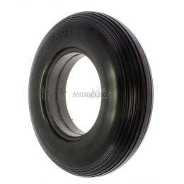 Buitenband 4.00-8 PU zwart lijnprofiel