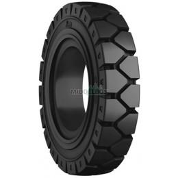 Compleet wiel, volrubberband 7.00-12 Emrald Y-lug LIP + velg 161/205/6 ET0