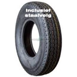 Compleet wiel 4.50-10 Kings Tire KT-715 (tt, 6pr) + velg 60/100/4 ET0