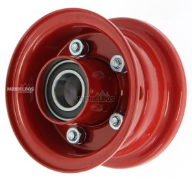 Velg rood 2.10-4 meerdelig Vlukon | Eindwiel met kogellagers - Asgat 25mm - Versterkt