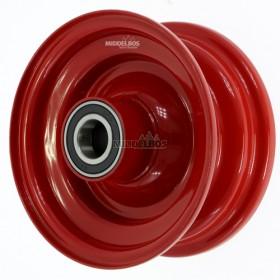 Velg rood 2.50x6 Vlukon | Vorkwiel met kogellagers - Asgat 25mm