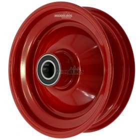 Velg rood 2.50x8 Vlukon | Vorkwiel met kogellagers - Asgat: 25mm
