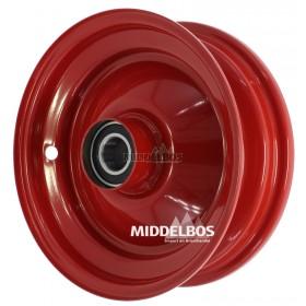 Velg rood 2.50x8 Vlukon | Eindwiel met kogellagers - Asgat 25mm