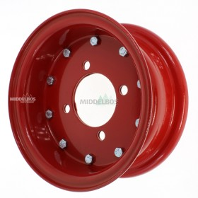 Velg rood 4.00E-9 Vlukon meerdelig | 85/115/4 ET0 - Franse steek