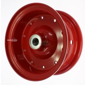 Velg rood 4.00E-9 Vlukon meerdelig | Vorkwiel met kogellagers - Asgat 25mm