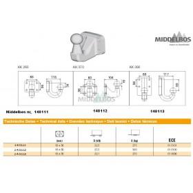 Flenskogel Rockinger 4 gaats 83x56mm | D= 22.1 kN, H= -90