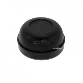 Vetdop rond 47 mm kunststof zwart  | Slagdop neutraal