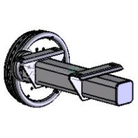 Halfas linker uitvoering WAP WAG135B (1350 kg) naaf/steek: 63/112, 5 gaats