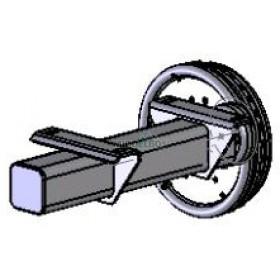 Halfas rechter uitvoering WAP WAG135B (1350 kg) naaf/steek: 63/112, 5 gaats