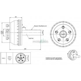 Halfas linker uitvoering WAP WST100B/184 (500 kg) naaf/steek: 63/112, 5 gaats