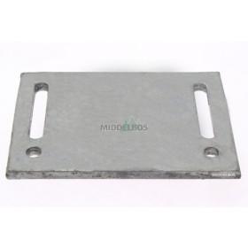 Padverbreder / padversmaller - Hart op hart 160 mm - Max 100 mm breder of smaller per zijde - Boutgat M12