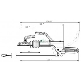 Oplooprem Knott KFL12A | 750-1300 KG