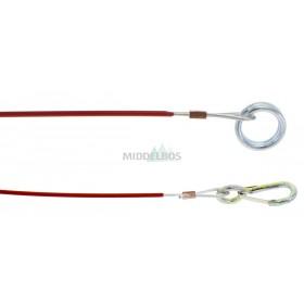 Losbreekkabel + ring Knott | Lengte: 1000mm