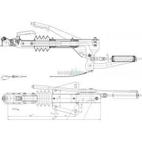Oplooprem Al-Ko 60S/2 uitvoering B | V-dissel - 750 KG