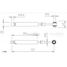Oploopdemper Alko 131R C1 | H.o.h. gaten: 327mm