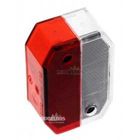 Glas voor breedtelamp Flexipoint Aspock | Wit/rood