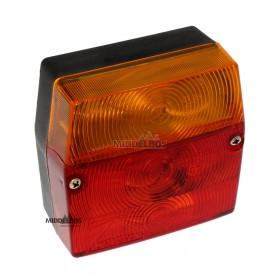 Achterlicht Minipoint Aspock | 93x99mm - Zowel links als rechts te gebruiken, met kentekenverlichting