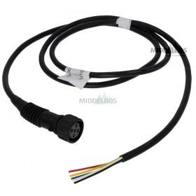 Kabel + stekker voor multipoint Aspock | Lengte 1,5 meter - Links, geel