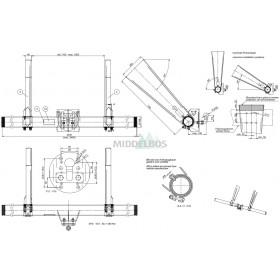 Onderrijbumper WAP WUB SRKL ZKKL uitvoering A | Met flenskogel,  verzinkt