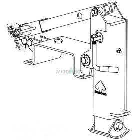 Steunpoot / valsteun WAP voor dissel 260x180mm  | WSW50/20 voor WZD klem