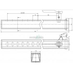 Steunpoot / valsteun poot WAP | 30kN - 6 x 50mm lasbaar