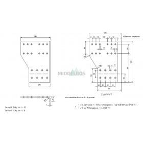 Zijplaten WAP voor onderrijbumper WUB751D 420x535mm
