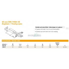 Trekoog Rockinger rond 50 | Snelverkeer - 65x60mm