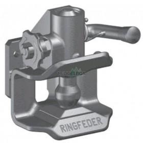 Vangmuilkoppeling RF2020, 83x56 Ringfeder | Hendel opwaarts