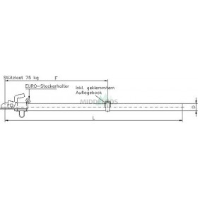 Buisdissel ongeremd Nieper ZR1.2 - 750 kg | Rond 70
