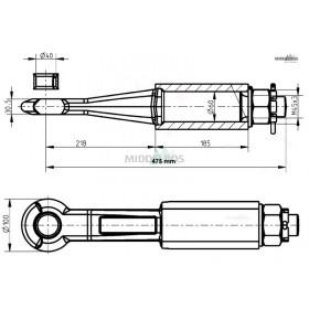 Trekoog Jeco rond 40 | Snelverkeer - Schroefbaar, schacht 60mm