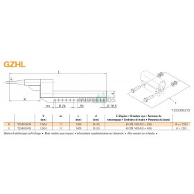 Trekstang GZHL 12x50 | Rond 40 - 81x19 | X=200mm | Regensburger/Rockinger