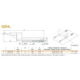 Trekstang GZHL 12x50 | Rond 40 - 81x19 | X=400mm | Regensburger/Rockinger