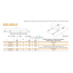 Trekstang GZL/GZLG 16x50 | Rond 40 - 81x19 | Regensburger/Rockinger