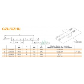 Trekstang GZU/GZHU 6x100 | Rond 50 - 81x19 | Regensburger/Rockinger