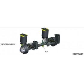 Trailer as RB553010 GFA 5500 KG    Remtrommel: 300 x 100