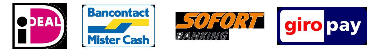 Betaalmogelijkheden bij Middelbos: Ideal, Mister Cash, Sofort banking, Giropay