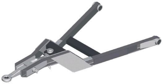 Triangel GSG - Met zwenkbaar trekoog en hoogteverzet