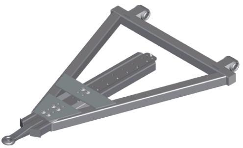 Triangel GZV - Lengteverstelbaar met platte buis