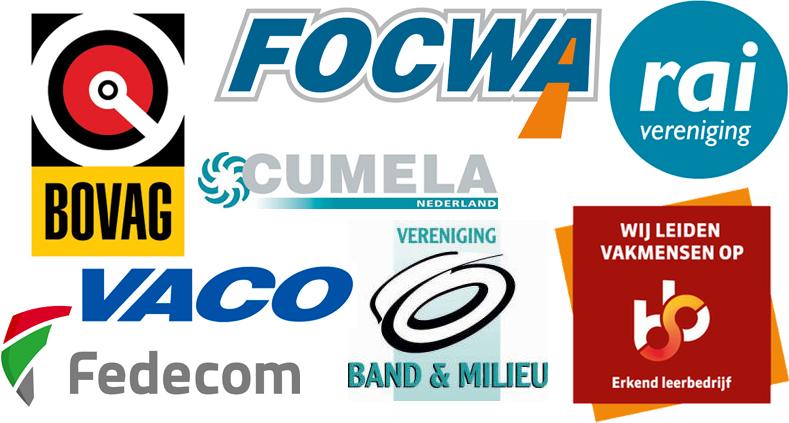 Keurmerken brancheverenigingen - VACO, Fedecom, Focwa, Rai vereniging, BOVAG, Vereniging Band & milieu en erkend leerbedrijf SBB